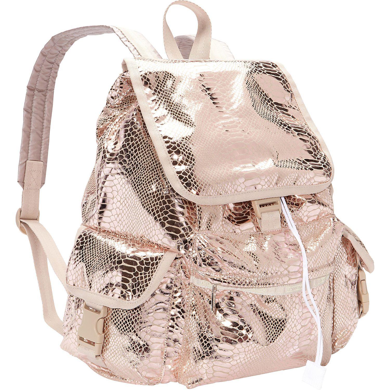 rose gold lesportsac voyager backpack back to school. Black Bedroom Furniture Sets. Home Design Ideas