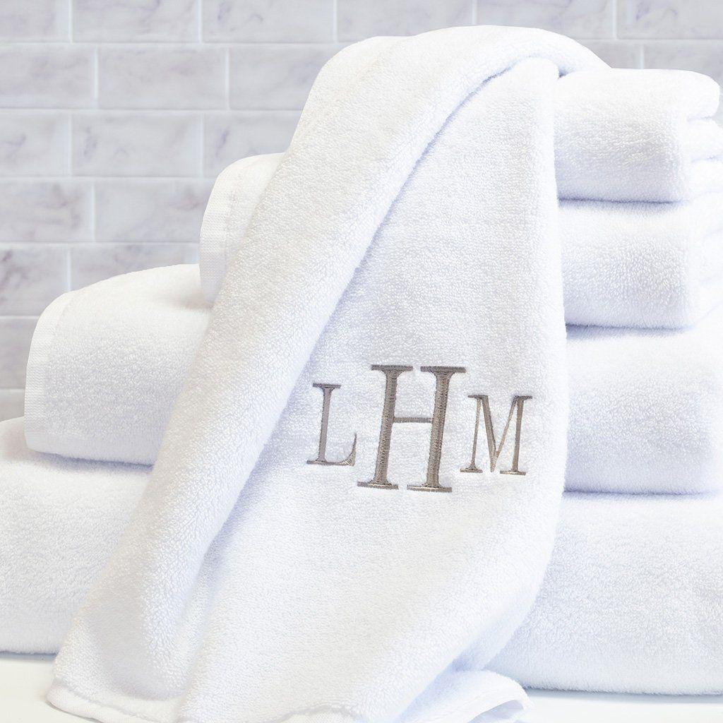 Plush White Towel Essentials Bundle 2 Wash 2 Hand 2 Bath