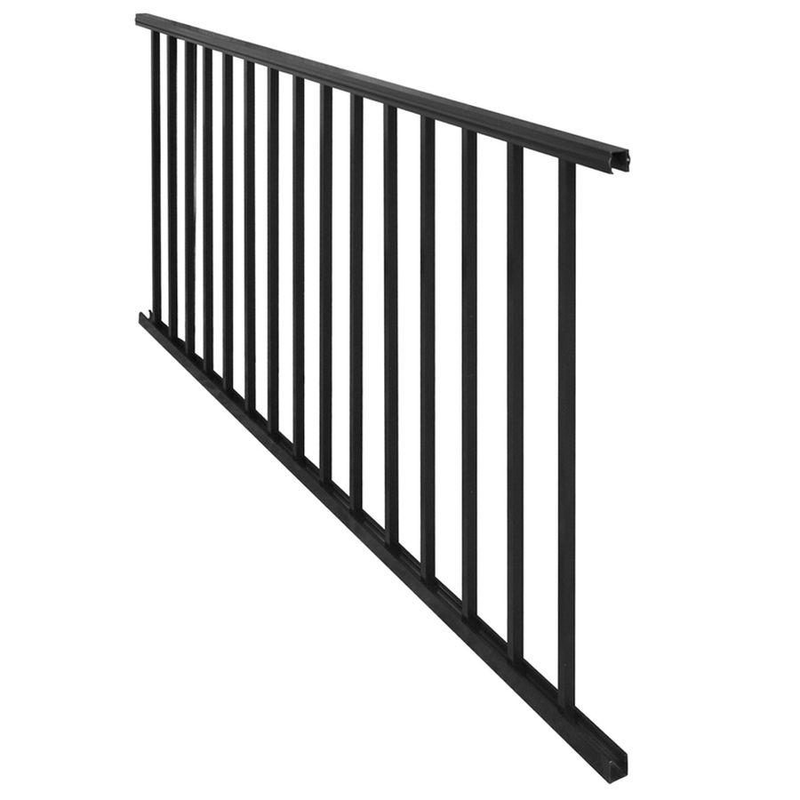 Freedom Chatham 48.5-in x 28-in Black Aluminum Porch Railing ...