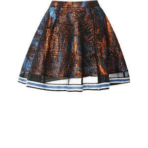 Ostwald Helgason Copper Turquoise Galaxy Drape Mini Skirt