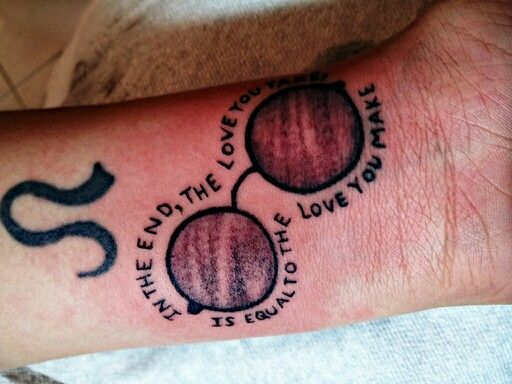 John Lennon Tattoo Tattoos Beatles Tattoos Infinity Tattoo