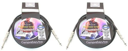 2-Pack Comprehensive Performer Series 1/4-inch Instrument Cable with Assembled Metal Connectors 6ft by Comprehensive. $13.99. Whether rehearsing or on stage, Comprehensive Performer Series audio cables are designed for musicians and performers who demand the best. Performer Series audio cables feature low-noise construction utilizing a 24 gauge center conductor and 90% shielding which provides note for note audio reproduction. Comprehensive's famous XtraFlex jacket...