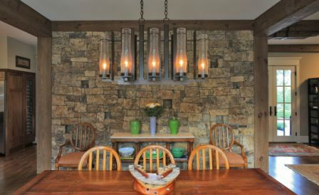 Stone Accent Wall Dining Room