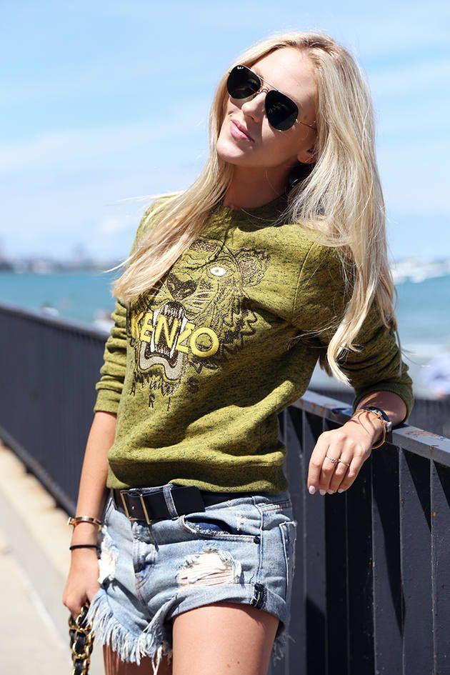 Peace Love Shea  #Kenzo #Sweater #Oneteaspoon #Shorts