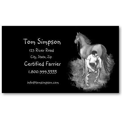 Custom farrier horse business card pinterest business cards and custom farrier horse business card colourmoves