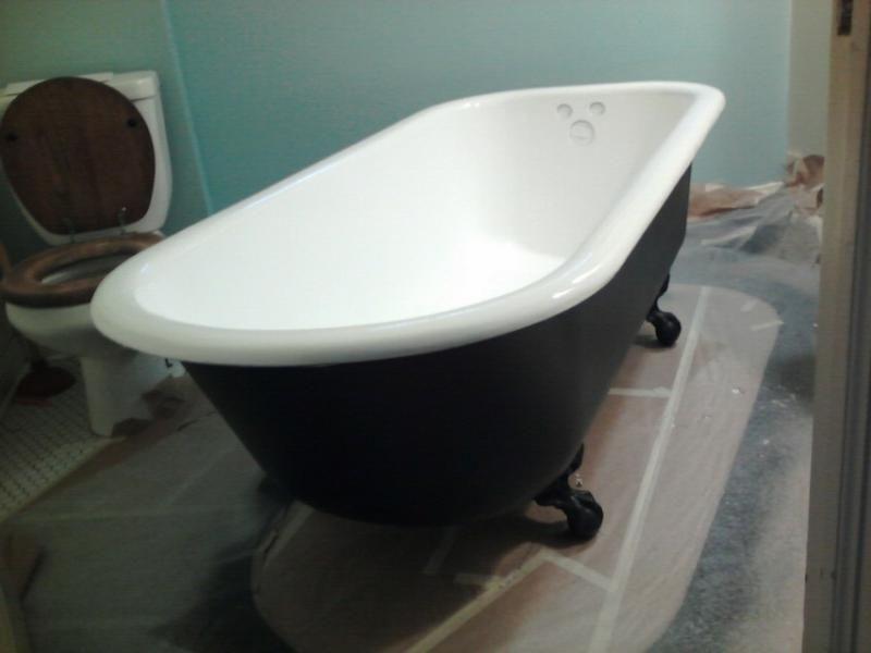 PKB Reglazing Clawfoot Bathtub Refinished