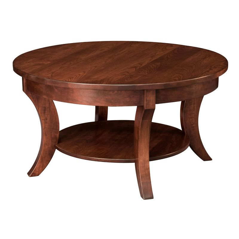 Amish Madison Round Coffee Table | Amish Furniture | Shipshewana Furniture  Co. For Breakfast Area