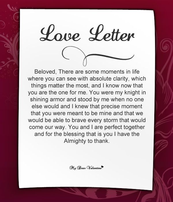 Written love letters for her