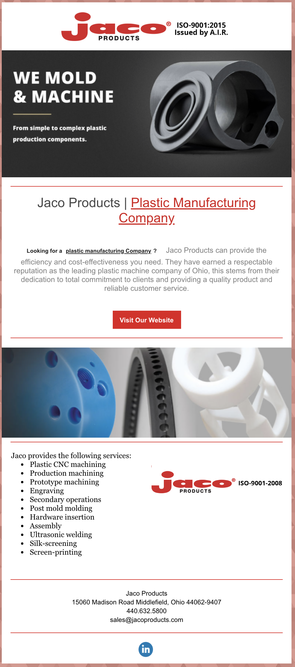 Jaco Products offers a one-stop shop from custom injecting