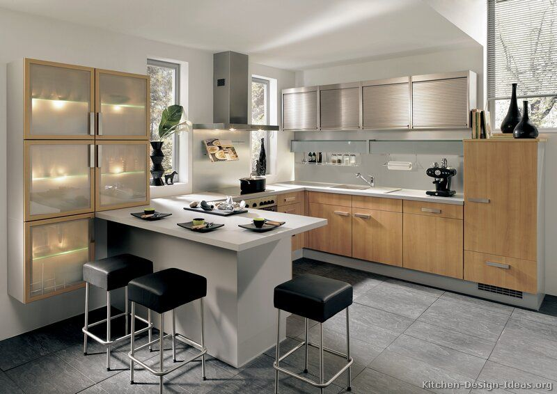 Kitchen Design With Peninsula kitchen peninsula ideas | pictures of kitchens - modern - light