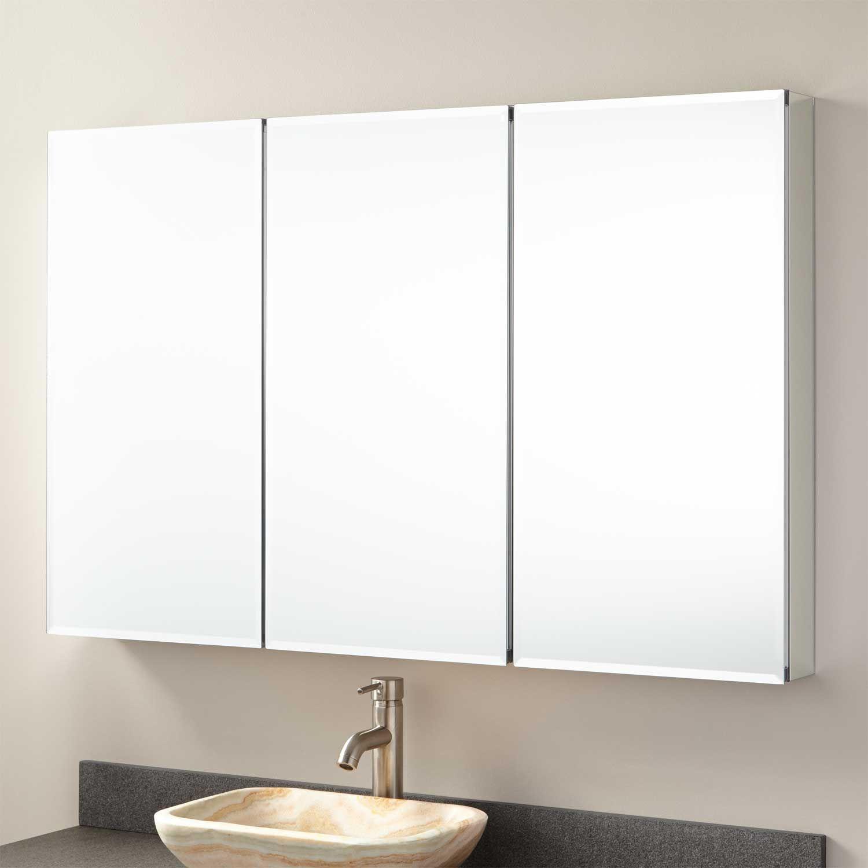 Cosmopolitan Stainless Steel Tri View Medicine Cabinet 48