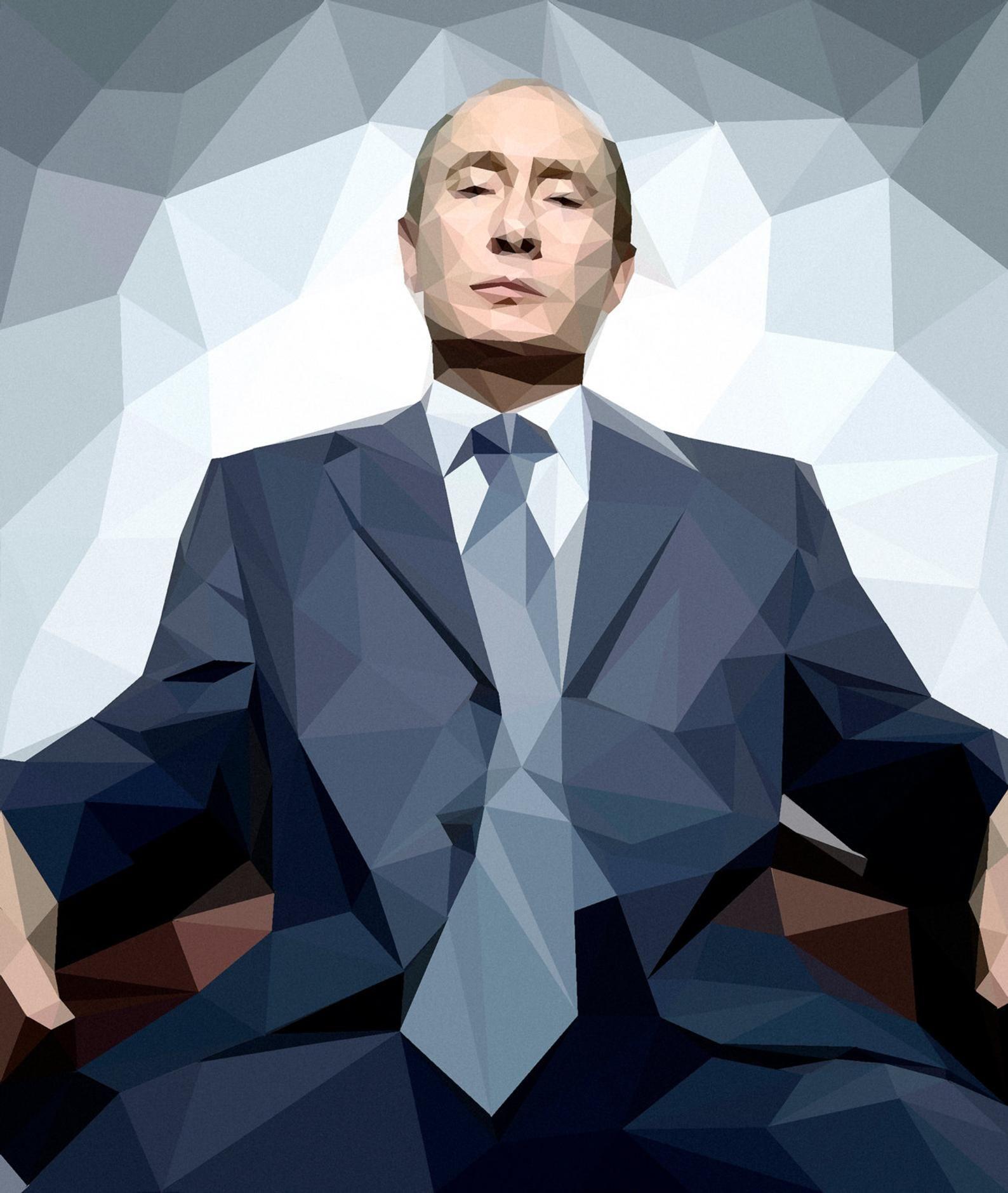 V Putin In Geometris Style Paper Print Original Etsy In 2020 Illustration Print Print Printed Paper