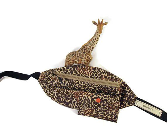 Giraffe Print Fanny Pack Travel Bag Nurses Bag Hip Bag