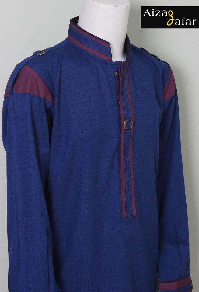 Aizaz Zafar Eid-Ul-Azha Wear Shalwar Kameez Dresses 2014 for