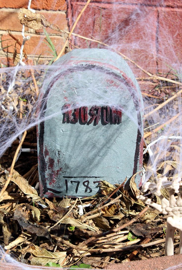 DIY Halloween Tombstones from Upcycled Cereal Boxes Halloween DIY - Halloween Graveyard Decorations