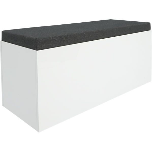 Cb2 Catch All Storage Bench Modern Storage Bench Storage Bench Seating White Storage Bench
