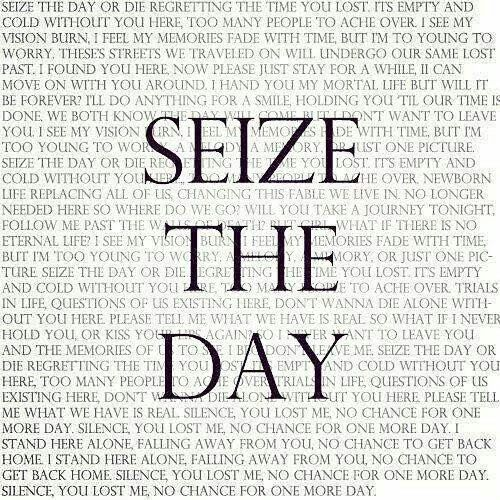 Seize The Day Lyrics A7x Avengedsevenfold With Images Day By