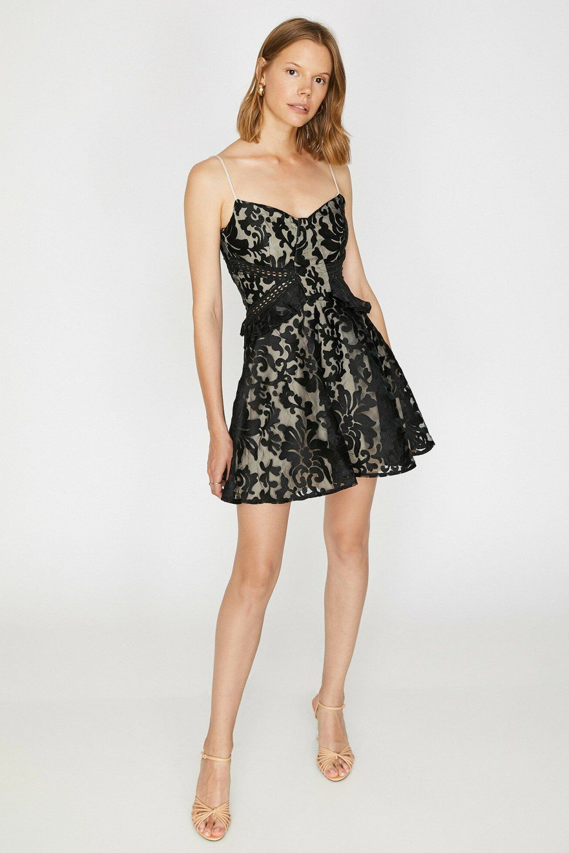 Koton Askili Dantel Detayli Siyah Mini Abiye Elbise Elbisebul Elbise The Dress Mini Elbise