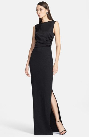 St. John Collection Sleeveless Liquid Satin & Jacquard Knit Gown available at #Nordstrom $1395