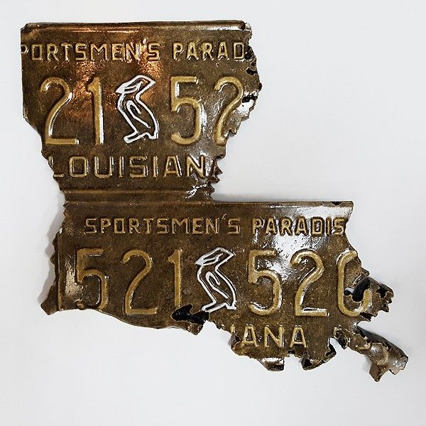 License+Plate+State+of+Louisiana+Wall+Plaque