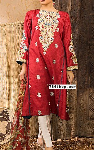 Red Lawn Suit (2 Pcs)   Buy Sapphire Fashion Dress is part of lawn Suits Pakistani - Pakistani Dresses online shopping in USA, UK    Indian Pakistani Fashion clothes for sale with Free Shipping  Call +1 5123801085