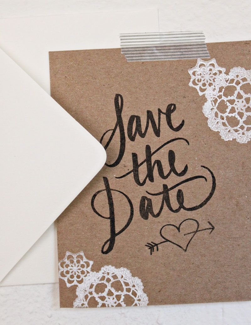 Chipboard Calligraphy Save the Date Kit Rubber Stamps NEW