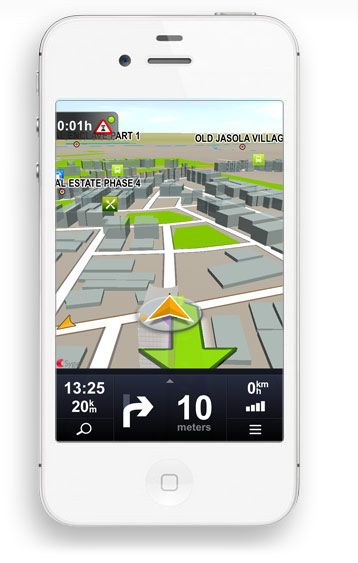 Voice guided GPS navigation app packed with MapmyIndia