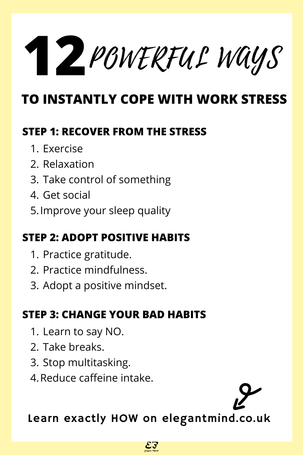 Try these 12 ways to cope with stress at work for immediate stress relief! Click to find out how!