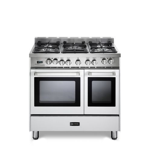 Found It At Allmodern 3 9 Cu Ft Dual Fuel Convection Range Double Oven Range Gas Double Oven Electric Double Oven