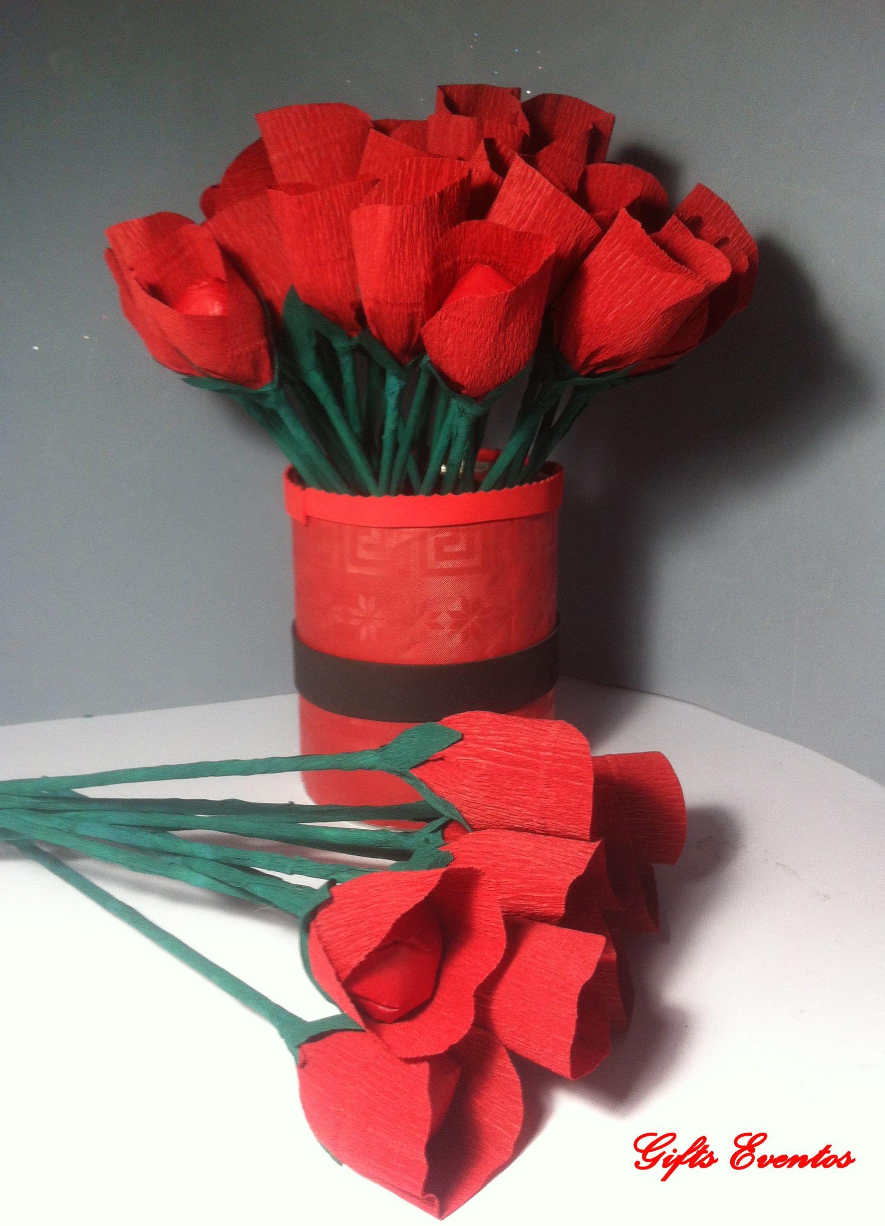 Flores porta arroz, en papel. Realizadas para llevar el arroz de tu ...