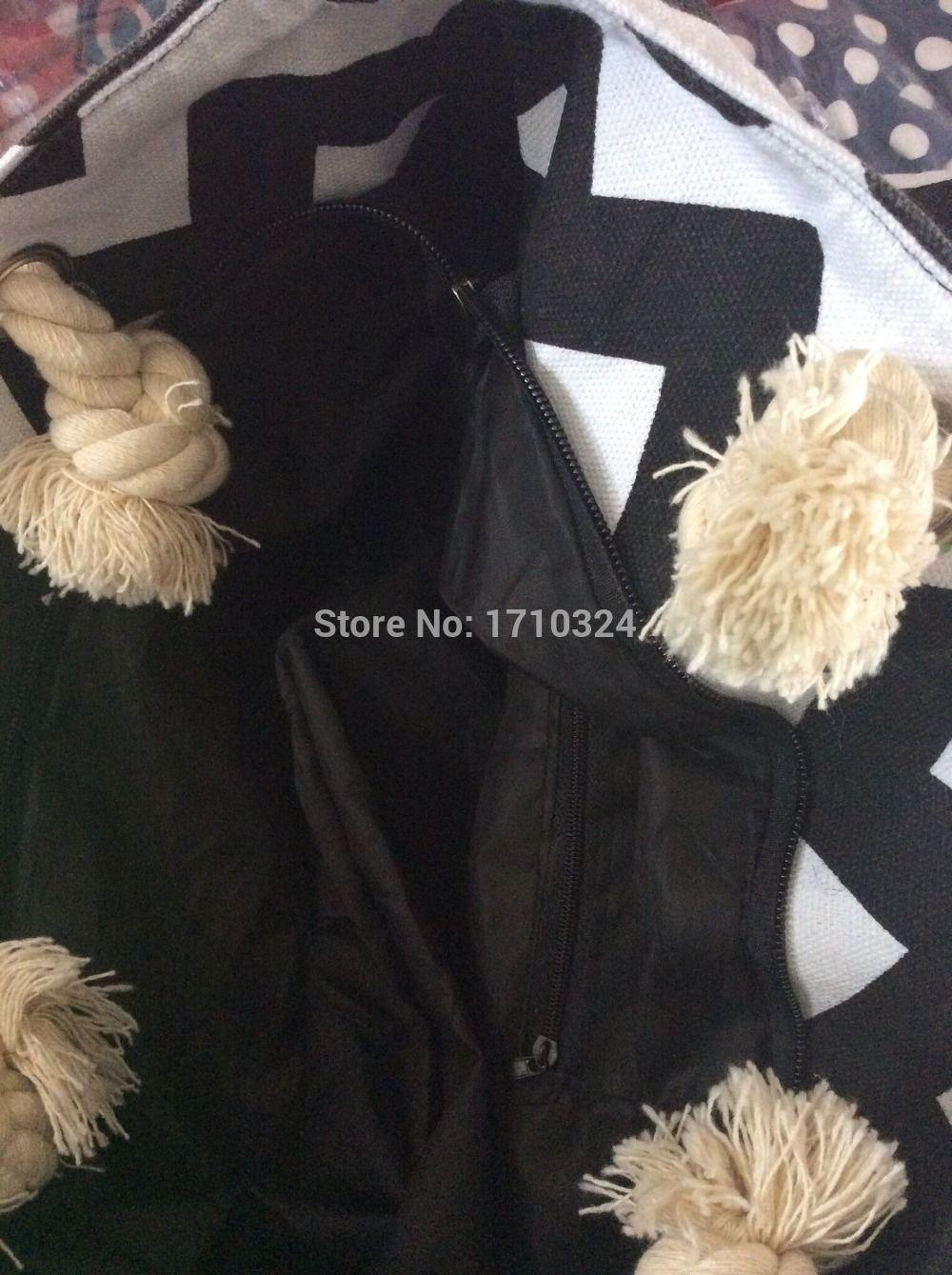lady chevron printed tote bag handmade handbag Canvas shopping Chevron Canvas Shoulder Bag