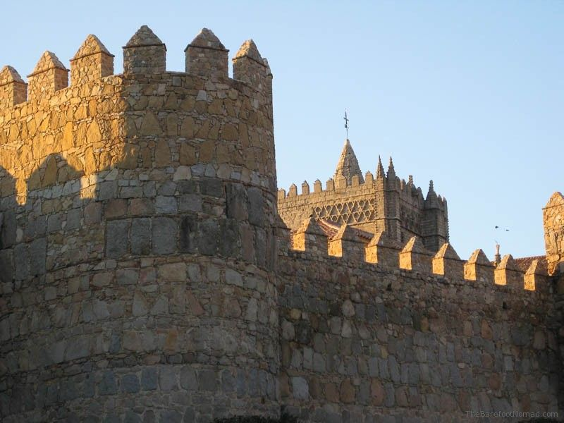 Turrets near the Cathedral of Avila, Spain From TheBarefootNomad.com