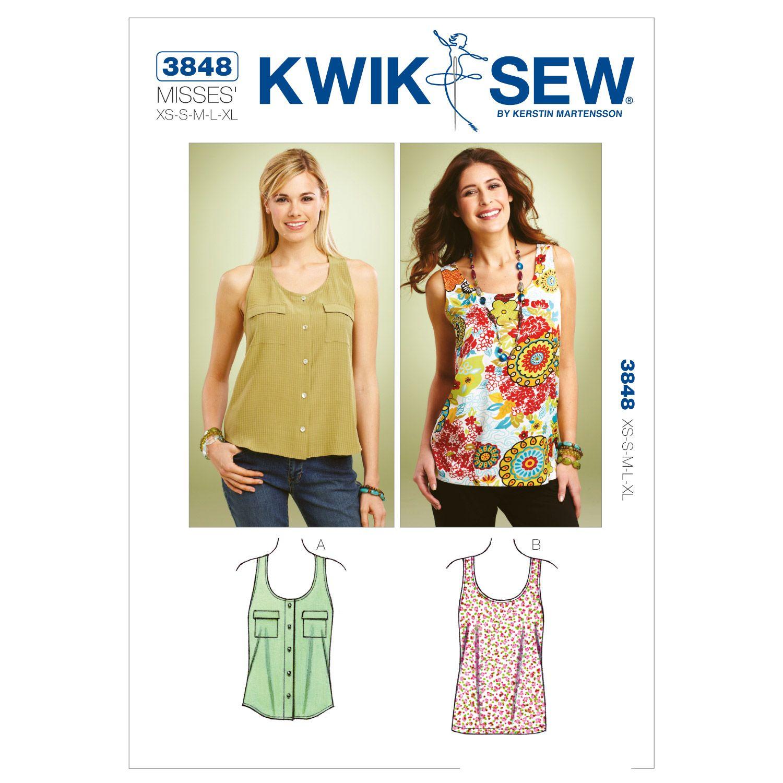 Kwik Sew Misses Top-K3848 | Oberteile und Nähen
