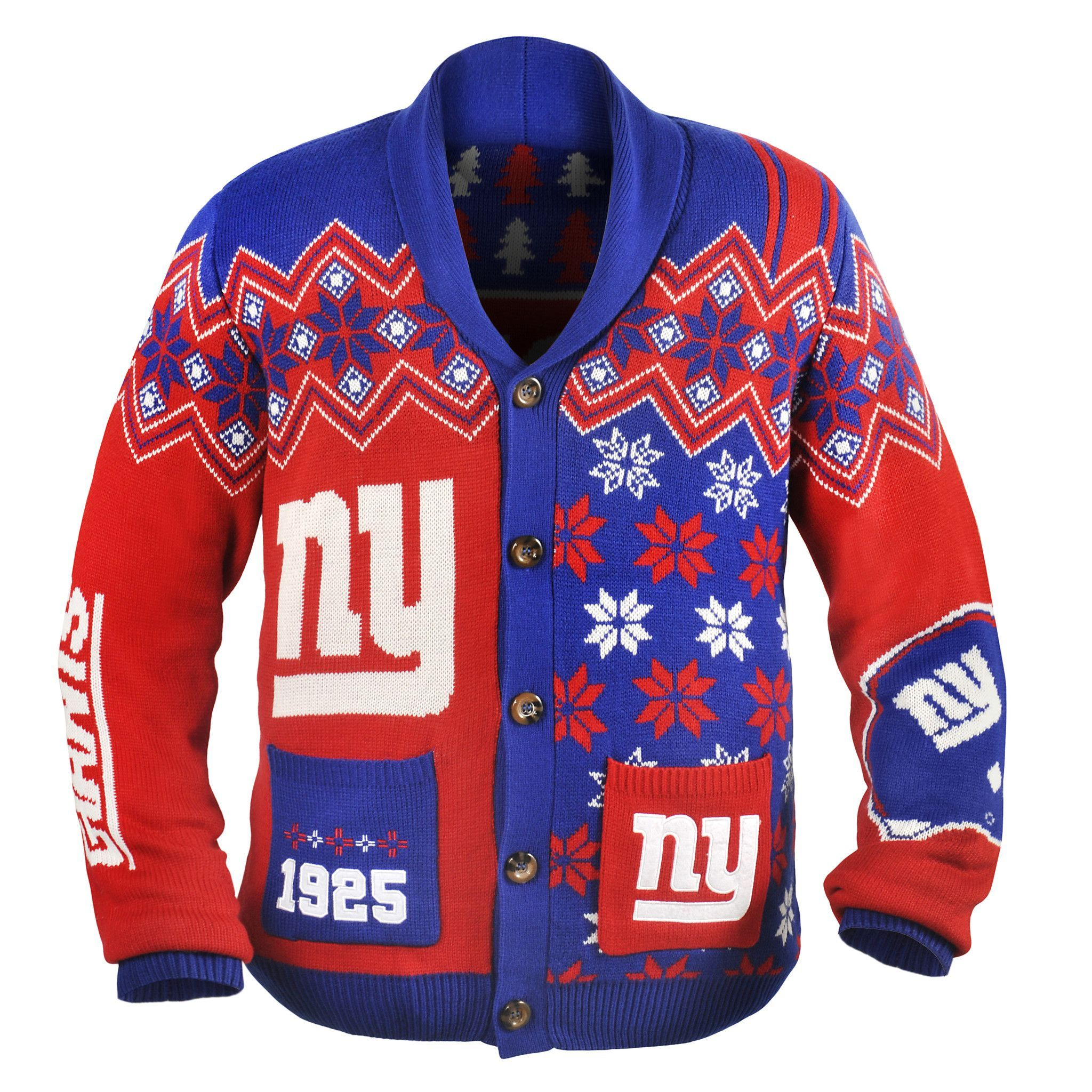 New York Giants NFL Adult Ugly Cardigan Sweater | Products ...