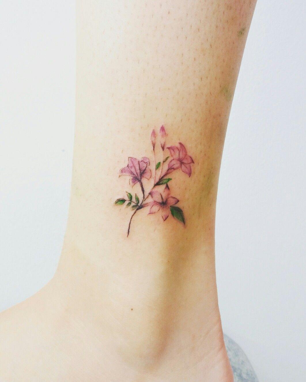 94e3c5432282a Jasmin tattoo Jasmine Flower Tattoos, Little Flower Tattoos, Jasmine Tattoo,  Flower Tattoo Foot