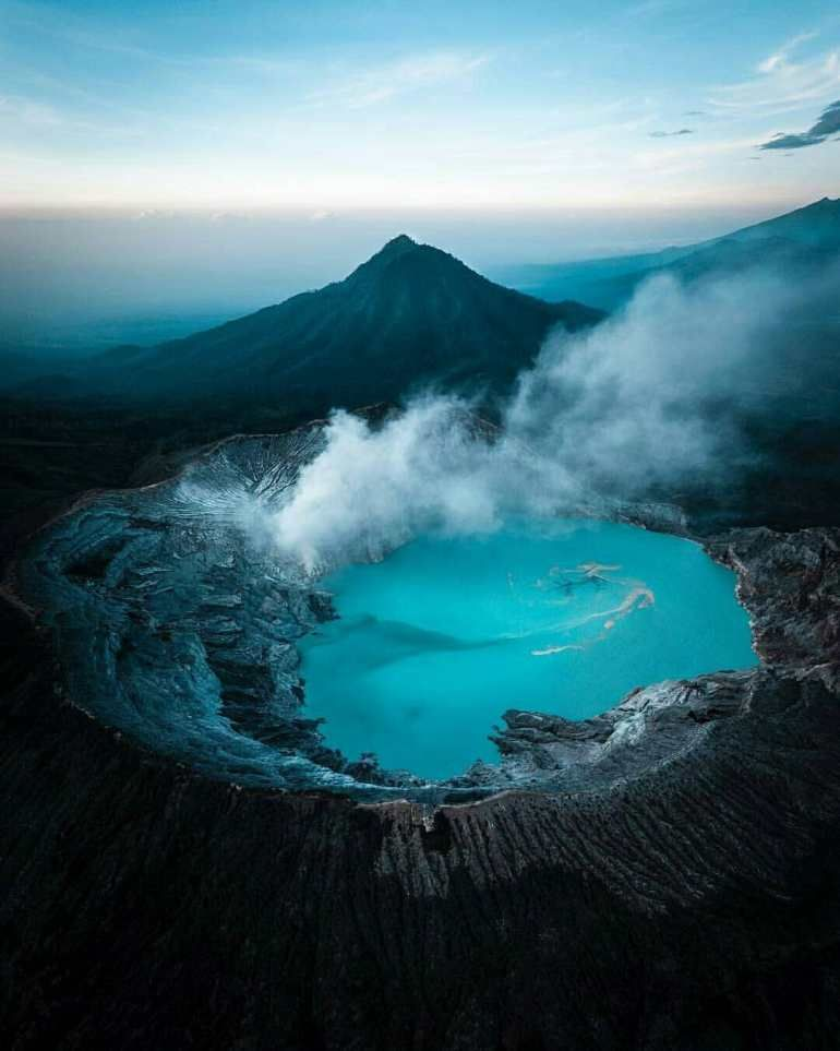 Ijen Volcano Jawa Timur Indonesia Beautiful Places Nature Trip Volcano