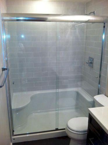 44 Cool Bathroom Shower Remodel Design Ideas - HOMEHIHOO
