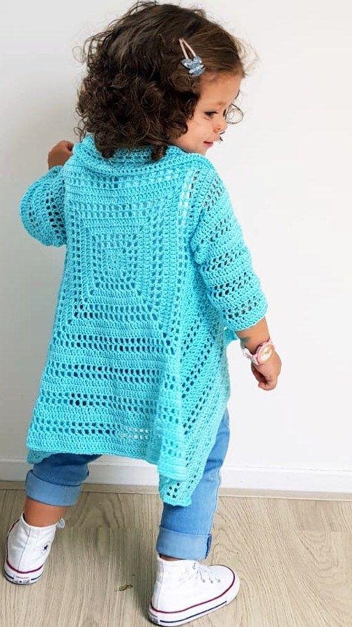 Blue Sky Cardi - ByKaterina Blue Sky Cardi Crochet patterns | For ...