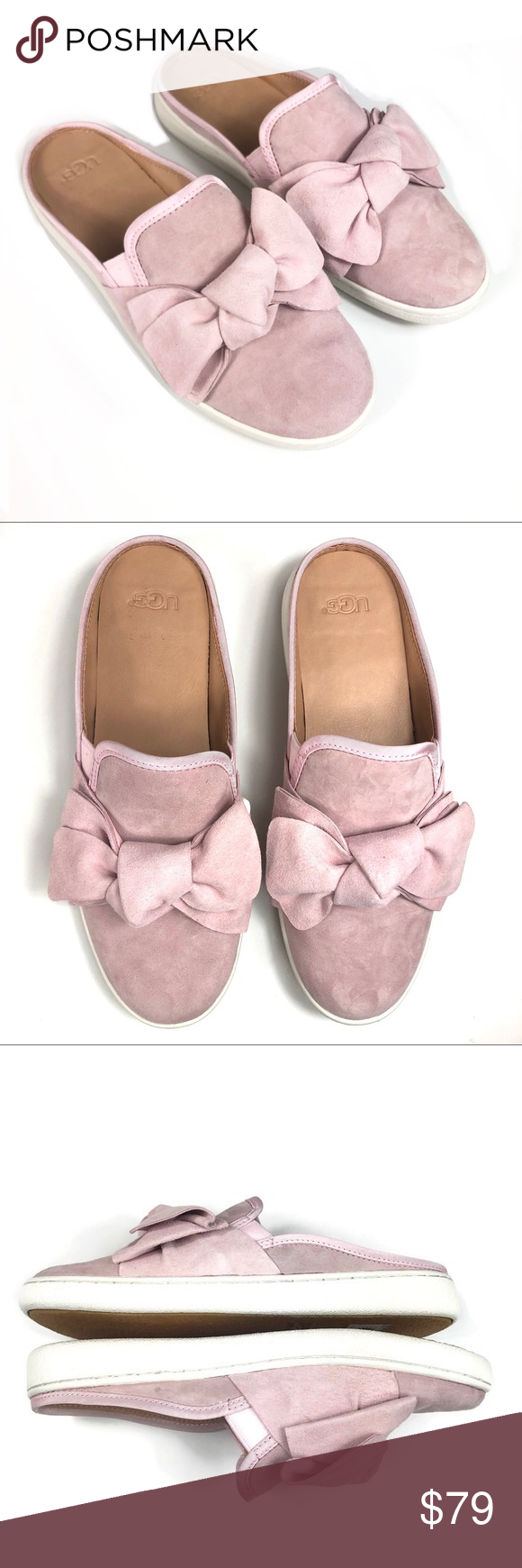 New UGG Luci Bow Sneaker Mule Pink Sz 9