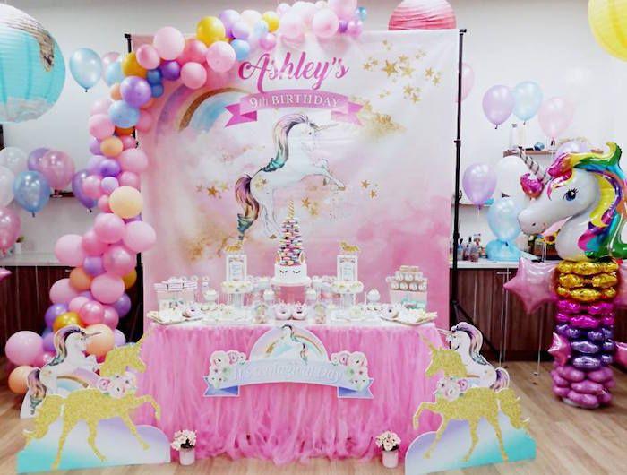 Pretty Pink Unicorn Birthday Party Unicorn Birthday