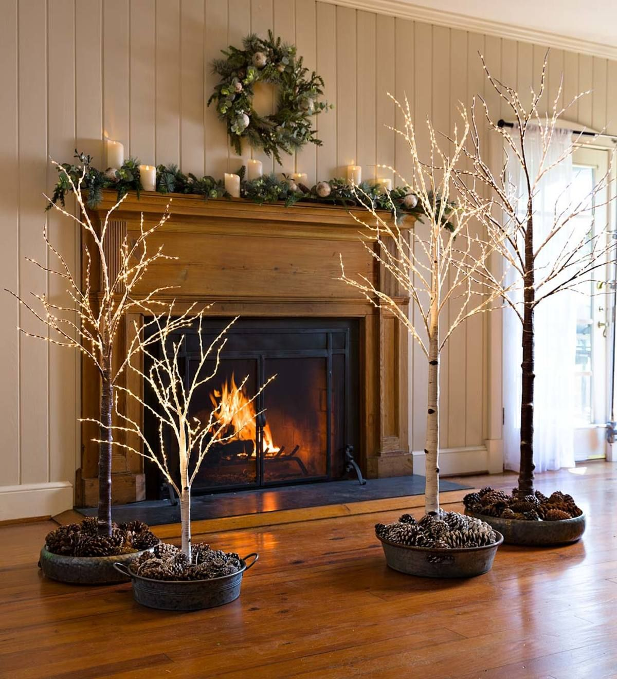 Our Indoor/Outdoor Lighted Birch Tree makes an stunning accent in any season. Simply beautiful ...