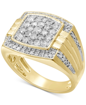 White Diamond 14k Gold Over Silver Cluster Ring 120 Carat T.W