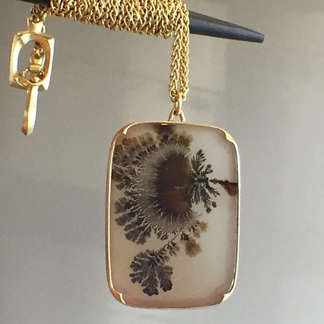 A dendritic agate pendant by gabriella kiss dendriticagate 18k a dendritic agate pendant by gabriella kiss dendriticagate 18k gabriellakiss aloadofball Choice Image