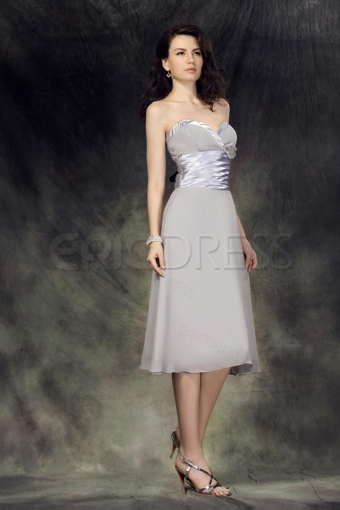Gray designer knee length lubaus promformal gown dress junior prom