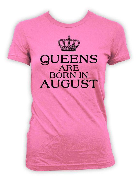 5c5874384fa August Birthday T Shirt Mom Birthday Gift Ideas For Women Personalized  Shirt Custom TShirt Queens Ar