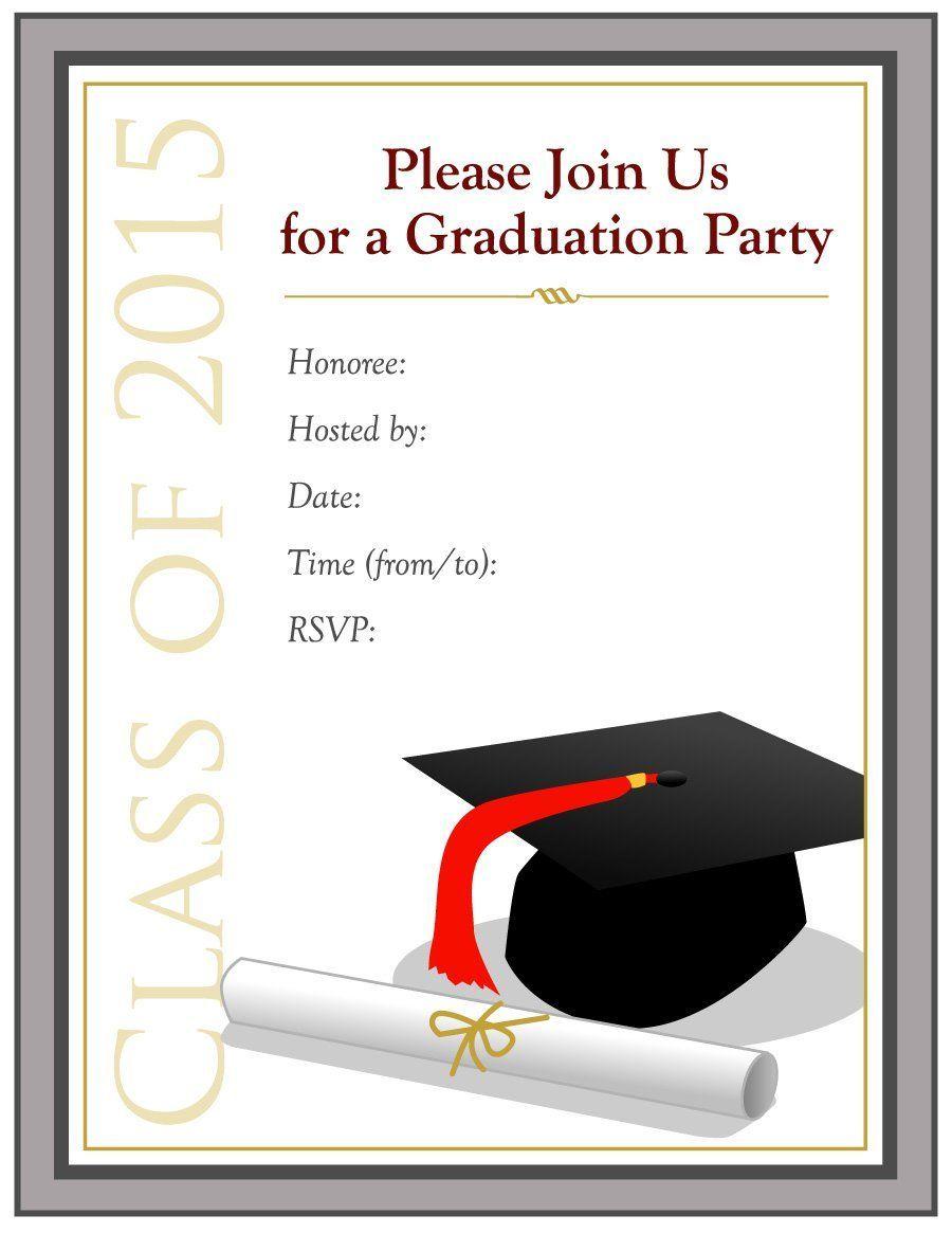 Graduation Invitation Templates Free Mfjzzklz Graduation