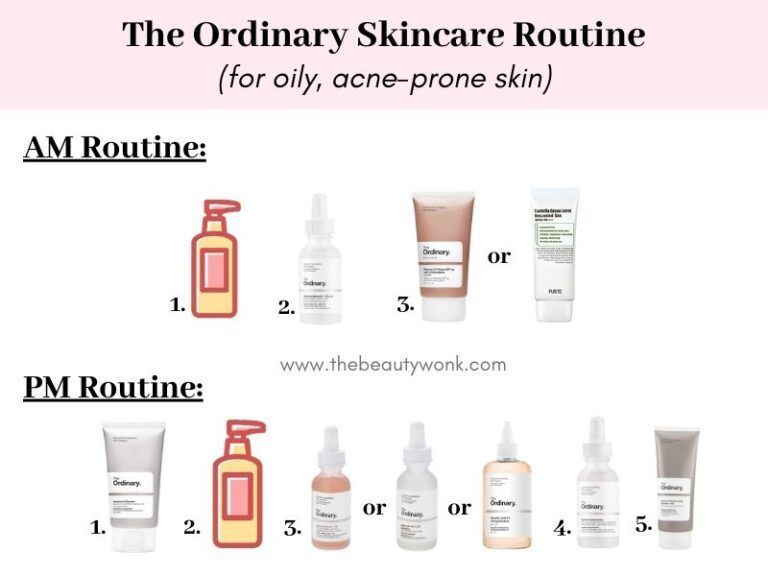 The Ordinary Skincare Routine For Oily Acne Prone Skin Acneprone Morning Skin Car The Ordinary Skincare Routine Oily Skin Care Routine Acne Skincare Routine