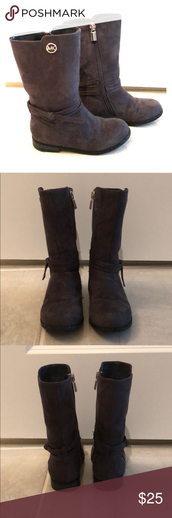 baecfffd8dc2 Toddler Girls Michael Kors Emma Carter-T Boots Gently used Toddler Girls  size 9 Michael Kors Emma Carter Boots in Charcoal Michael Kors Shoes Boots