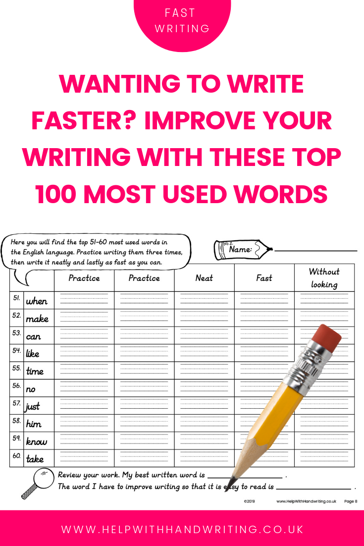 Wanting to find a cheats way to write faster? The best way