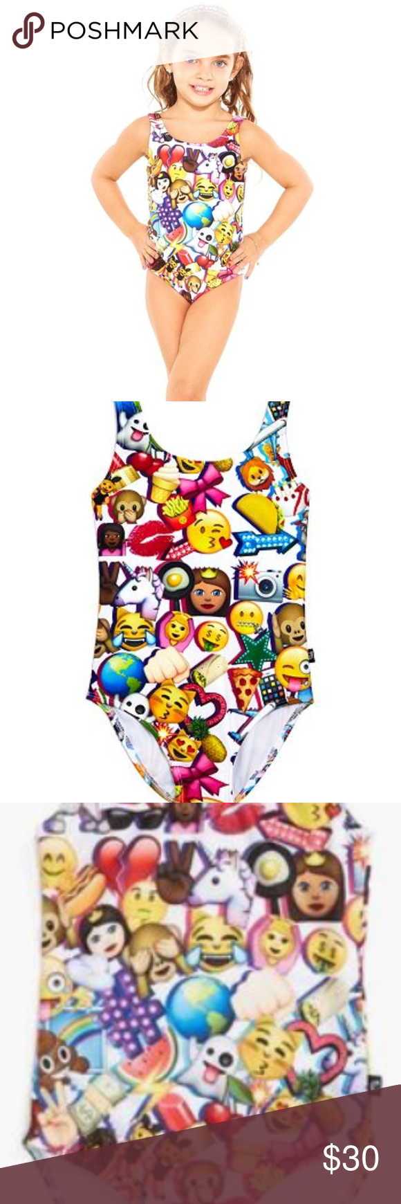 c3b6a209b9 Zara Terez Girls' Emoji Swimsuit NWT Kids Emoji Swimming Suit from Terez is  perfect for beach or pool with soft an amazing style.